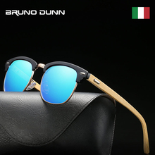 Bruno Dunn Bamboo Sunglasses polarized Men Women Design Sun Glasses Oculos De So