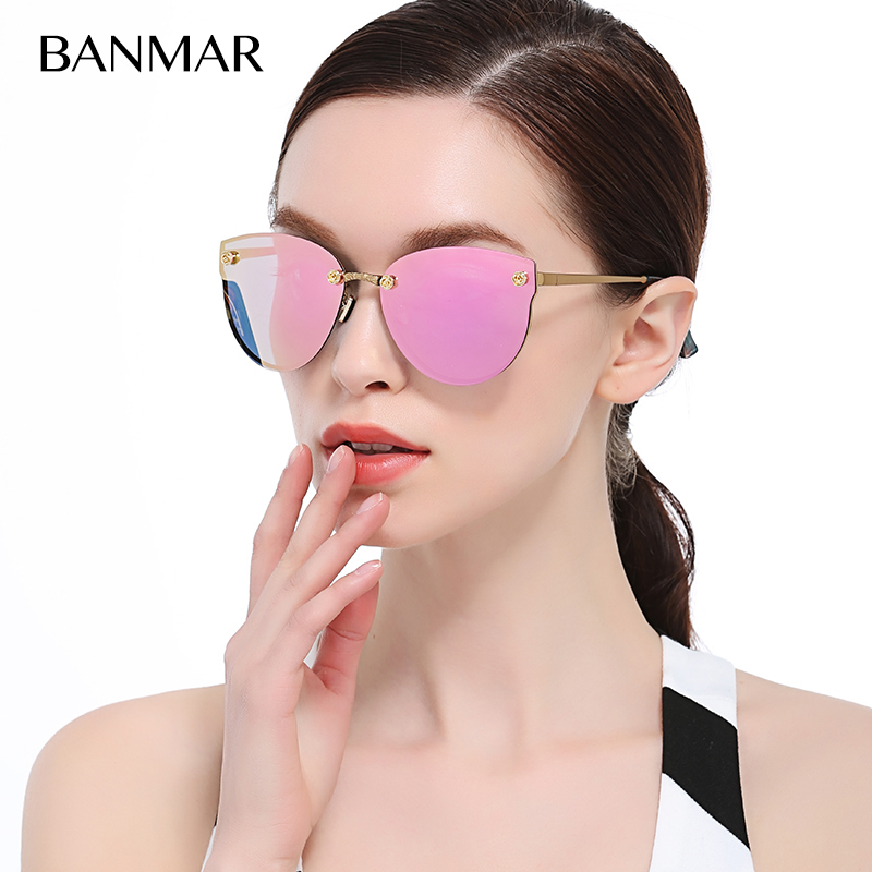 Cat Eye Rose Gold Flowers Oversized Super Star Sunglasses Mirror Women Fashion Brand Designer Sun Glasses Lady UV400 A382