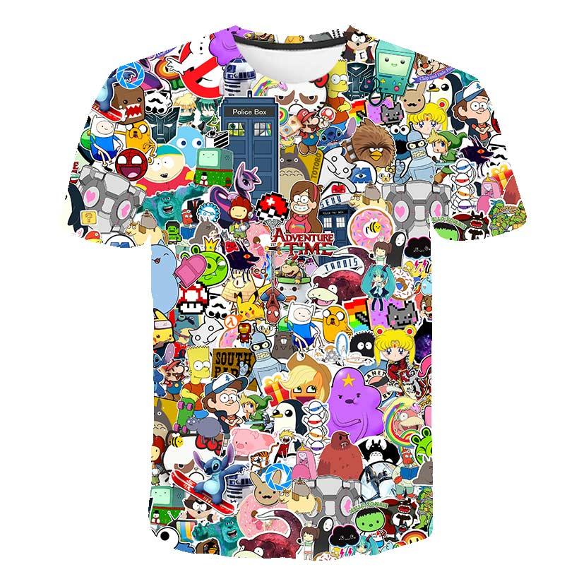 Cloudstyle 2018 Anime T-shirt hommes/femmes impression 3D Gintama blanchiment T-shirt dessin animé Puzzle Naruto été mode haut