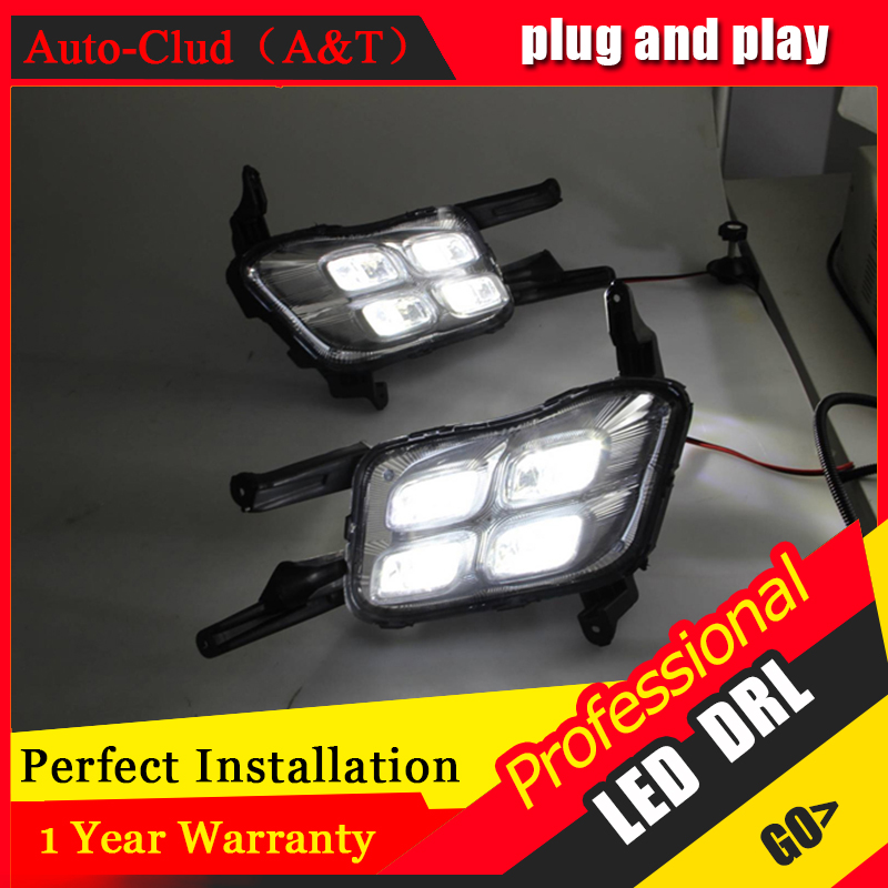 Auto Clud car styling For Kia K5 LED DRL For K5 led fog lamps daytime running light High brightness guide LED DRL13-14 Four eye 2pcs car led headlight kit led bulb d33 h11 free canbus auto led lamps white headlamp with yellow light fog light for citroen c4