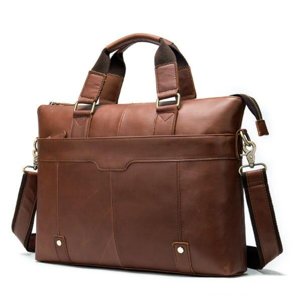 Men's Shoulder Messenger Bag Briefcase Man' Business Genuine Leather Casual Handbag Male Messenger Bags For 14