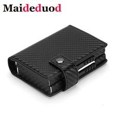 Maideduod  2019 NEW Aluminum Wallet Credit Card Holder Metal with RFID Blocking Multifunction Travel Case