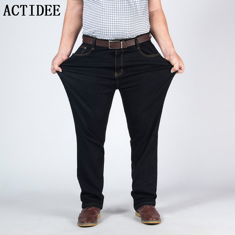 2017 New Fashion Mens Jeans Slim Fitness Cotton Elastic Pants Male Brand Clothing Denim Trousers Plus Size 48 46  44 42 40 38-30 new fashion spring autumn mens jeans slim fitness cotton elastic pants male clothing denim trousers