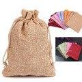 "Flax Gift Bag 20x30cm ( 8""x 12"" ) Double Deck Jute Burlap Linen sack Makeup Jewelry Packaging Bag"