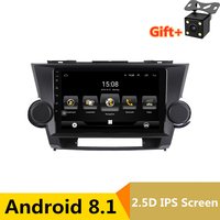 10.1 Android Car DVD Multimedia Player GPS For Toyota Highlander 2009 2010 2011 2012 2013 audio car radio stereo navigator wifi