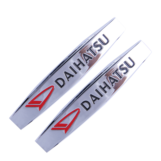 US $4 99 |Car Metal Sticker for Daihatsu terios sirion Charade Feroza Mira  Rocky Copen Pico Stainless Decoration Decal Styling Accessories-in Car