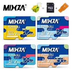 MIXZA карты памяти флешка 256 ГБ 128 ГБ 64 ГБ 32 ГБ Micro sd карты Class10 UHS-1 флэш-карты памяти Microsd TF /sd карты s для смартфонов/планшетов