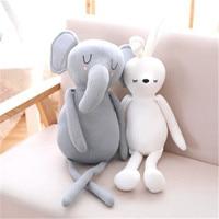 Baby Sleeping Elephant Rabbit Plush Doll Wool yarn Animals Soft Toys Kawaii Gifts Soothing Dolll