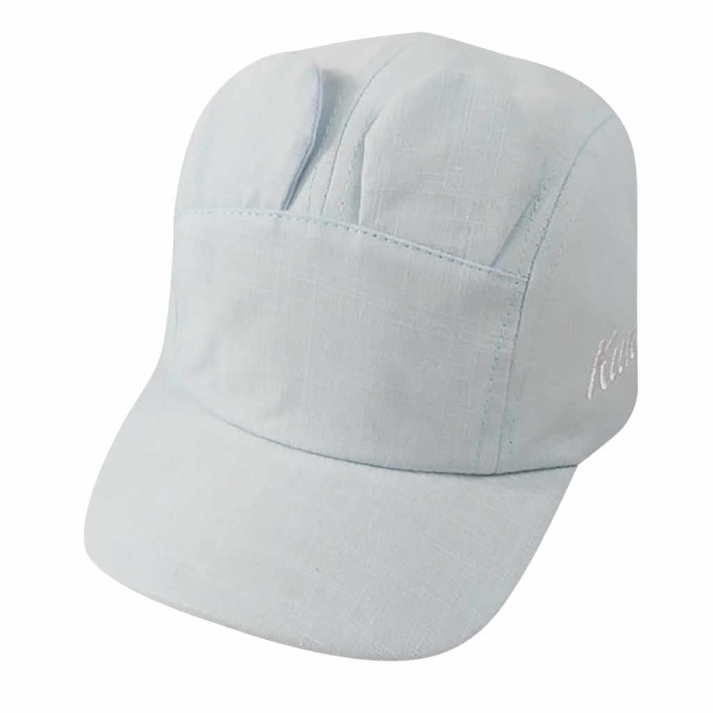 Estate sottile dei ragazzi e delle ragazze protezione solare cappelli del cotone dei bambini di colore solido regolabile lingua d'anatra berretto da baseball 2019 nuovo casquette
