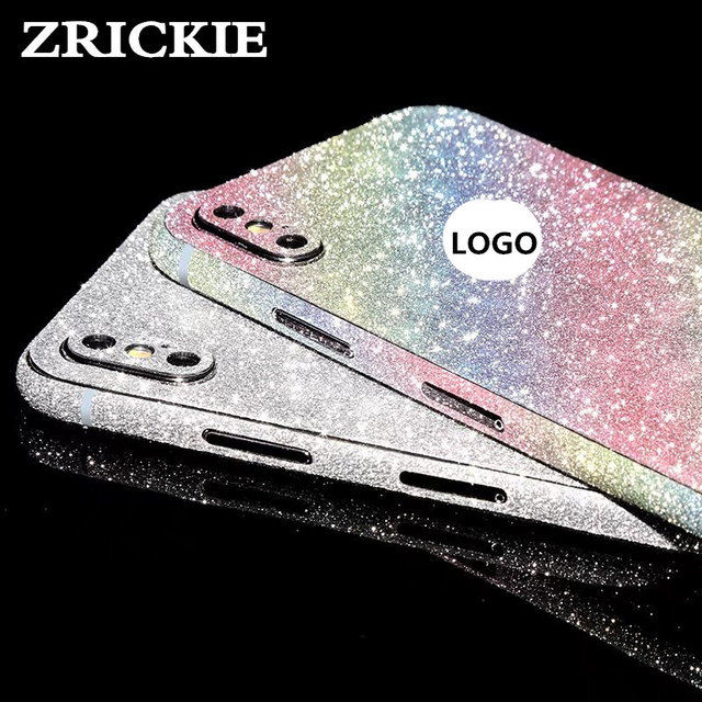 ZRICKIE for iPhone X Glitter Full Body Decals Sticker Cover for iPhone X  Bling Diamond Sparkle Wrap Skin Decal for iPhone 10 35a0cfec04ce