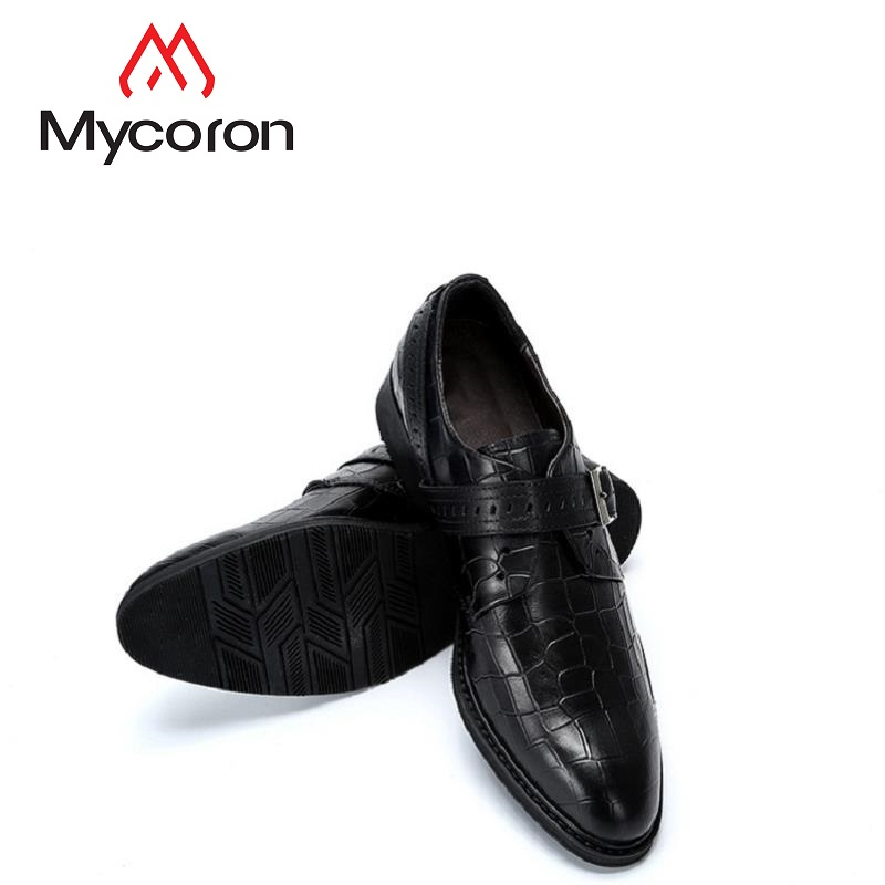 e34a165f96350c Masculinos Noir Homme Mycoron Mens Bout Rond Bottes Sapatos Robe De Formelle  Mariage Derby Hommes Cuir En Marque Chaussures Luxe ffTS1Uw