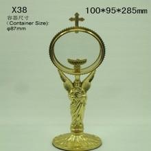 Высококачественный медный светильник для святых, принадлежности для католической церкви, церковный крест, ангел, элегантный благородный католический церковный памятник