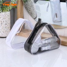 Vogvigo Transparent Cosmetic Bag Waterproof Triangel Organizer Makeup Bags Women Travel Toiletry Case Accessories Bulk Supplies
