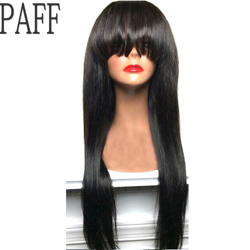 Straight Wigs For Black Women Lace Front Human Hair Wigs Brazilian Remy Hair Lace Front Wig Pre Plucked Bleached Knot PAFF
