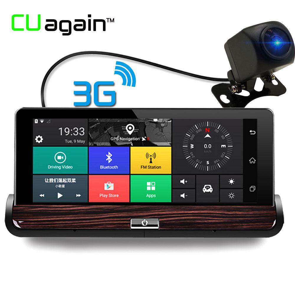 CUagain CU50 DVR 7Touch Android Car Camera 3G WIFI Rearview Mirror DVR GPS Car Video Recorder Dash Camera FHD 1080P Dual Lens