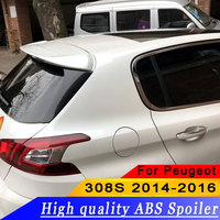For Peugeot 308S 2014 2016 High quality ABS material rear wing spoiler primer or DIY color 308S rear roof spoiler