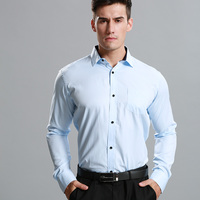 New Arrival JeeToo Brand Mens Shirts Long Sleeve Cotton Formal Shirt Slim Fit Male Solid Spring