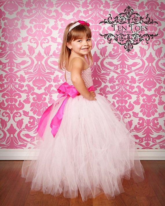 solid white handmade tutu baby bridesmaid flower girl wedding dress tulle fluffy ball gown birthday costume cloth party dresses