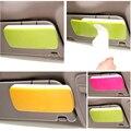 Parasol coche tablero de sol-shading colgando de bombeo caja de pañuelos de plástico sostenedor de la servilleta de papel con clip de color rosa/verde/orange