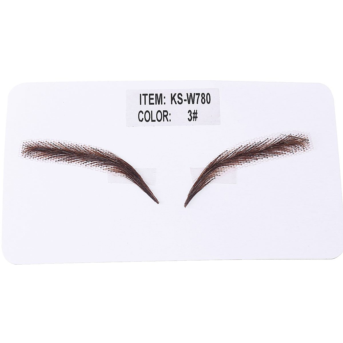 Image 4 - Handmade Human Hair False Eyebrows Lace Base For Women For Party Wedding Cosplay Star Fake Eyebrow Synthetic Eyebrows-in Eyebrow Enhancers from Beauty & Health