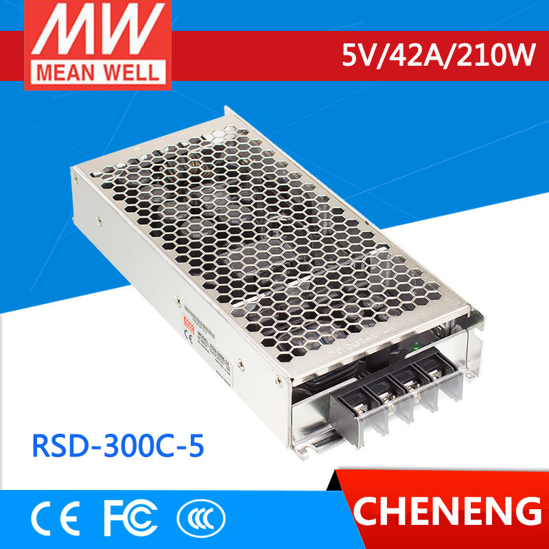 MEAN WELL original RSD-300C-5 5V 42A meanwell RSD-300 5V 210W Railway Single Output DC-DC Converter