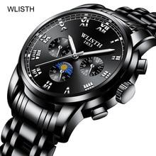 Mens Watches Top Brand Luxury Casual Leather Quartz Clock Male Sport Waterproof Watch Gift Gold Watch Men Relogio Masculino цена и фото