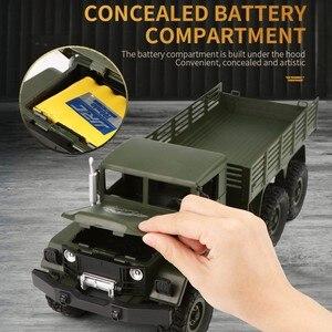 Image 3 - JJRC Q62 1:16 4wd rc voiture militaire carte escalade voiture tout terrain véhicule simulation modèle militaire escalade véhicule tout terrain