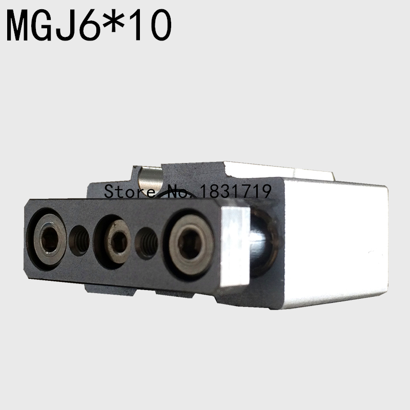 SMC type MGJ6-10/6*10 micro band guide rod / three axis cylinder bore size 6mm cylinder stroke 5mm/Pneumatic components светофильтр raylab smc l41 40 5mm