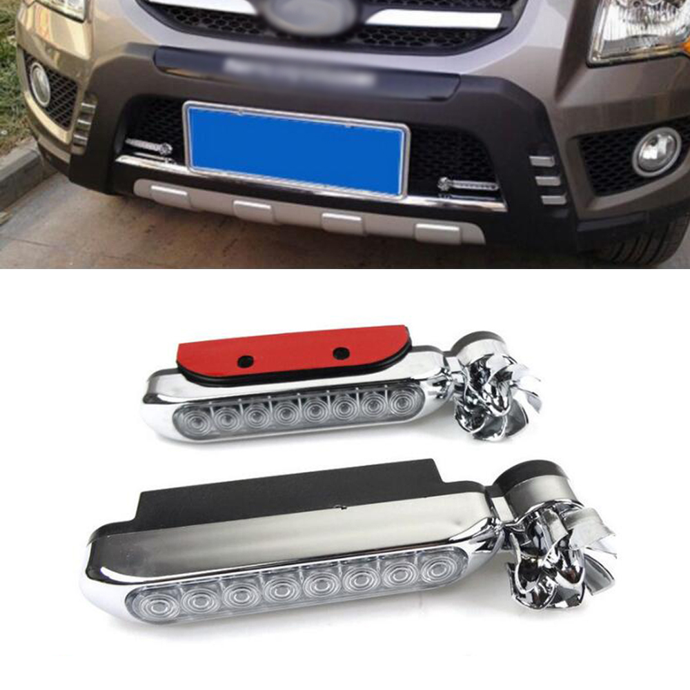 2x Wind energy No need external power supply Car Daytime Running Lights 8 LED DRL Daylight Headlight Lamp For Audi a3 a4 q5 q7 wind energy for power generation