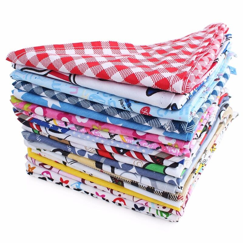 10pcs Pet Puppy Dog Scarf Bandanas Adjustable Dog Bow Ties Dog Grooming Bandannas Dog Accessories Pet Supplies