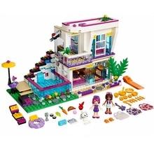 Lepin Building Block 10498 Compatível legoing Amigos das Livi Pop Star House 41135 Emma Mia Figura Brinquedo Educativo Para As Crianças