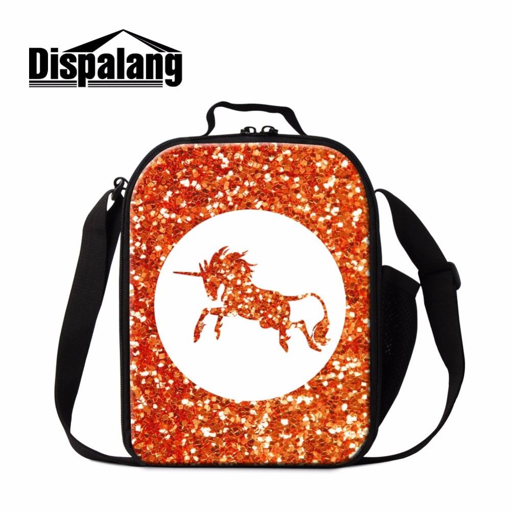 Dispalang Unicorn Lunch Bag For Kids Food Cooler Bag For Woman Neoprene Zipper Picnic Bags Bolsa Termica Lancheira Lunch Boxes