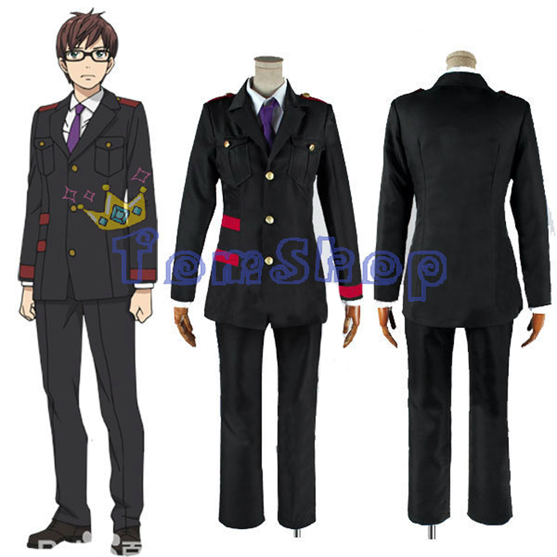 Anime Noragami Kazuma Cosplay Uniform Men's Halloween Costume Suit Custom Size Free Shipping