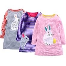 Girls Dress Robe Princesse Enfant Fille Dress Girls Rabbit Print Dresses Children Clothing Costume for Kids Clothes