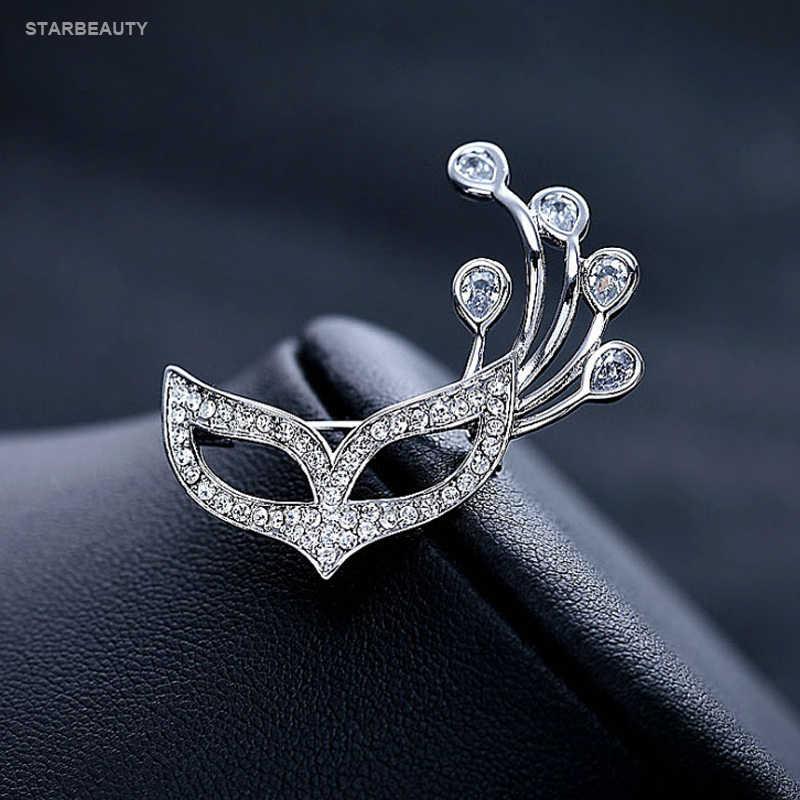 Masquerade Masker Rubah Bros Pria Wanita Korea Lucu Bros untuk Wanita Pria Crystal Bros Brocade Perhiasan