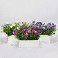 Fashionable rose potted lotus bonsai garden fence simulation decorative ornaments wholesale simulation plants quality