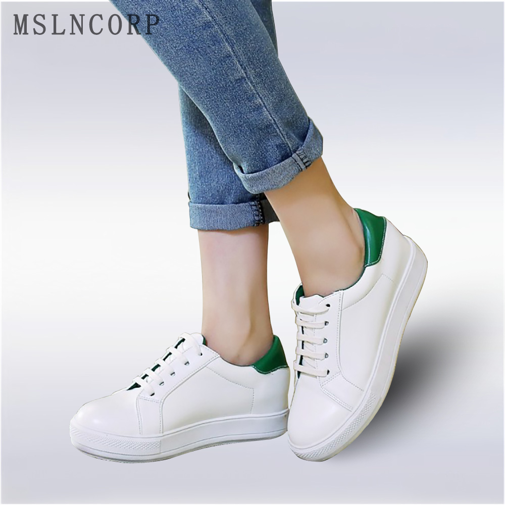 plus size 34-43 Spring Summer Women Flat Leather Canvas Shoes Comfortable Teens Casual Female Sneakers Footwear Lace-Up Loafers 2017 spring summer women flat shoes woman slip on loafers women s fashion leather shoes moccasins female footwear plus size 41