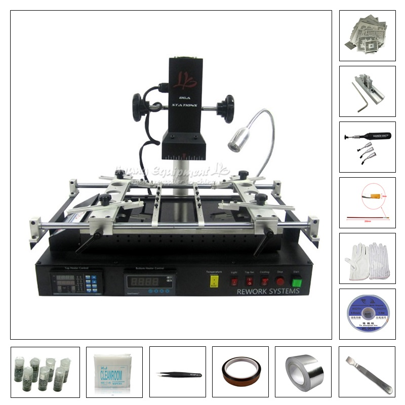 Infrared Electric Rework Station IR8500 solder station with 119pcs directly heating stencils