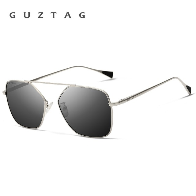 GUZTAG Unisex Stainless Steel Square Men/Women HD Polarized Mirror UV400 Sun Glasses Eyewear Sunglasses For Men oculos G8088