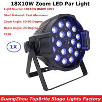 Hot Sales 18X10W Stage Led Par Light Zoom Function 10 60 Degree 5 6 7 8