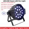 Hot Sales 18X10W Stage Led Par Light Zoom Function 10 60 Degree 5 6 7 8