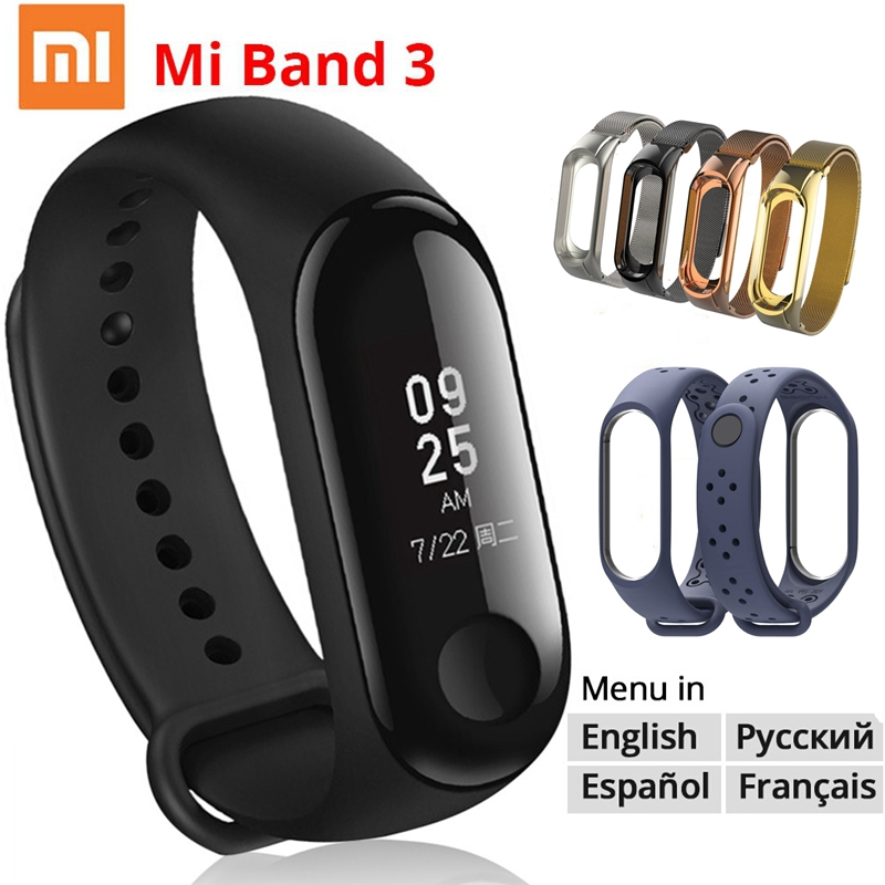 цена Xiaomi Mi Band 3 Miband 3/2 Smart Bracelet Waterproof OLED Instant Message Caller ID Heart Rate Monitor MiBand 3 Smart band