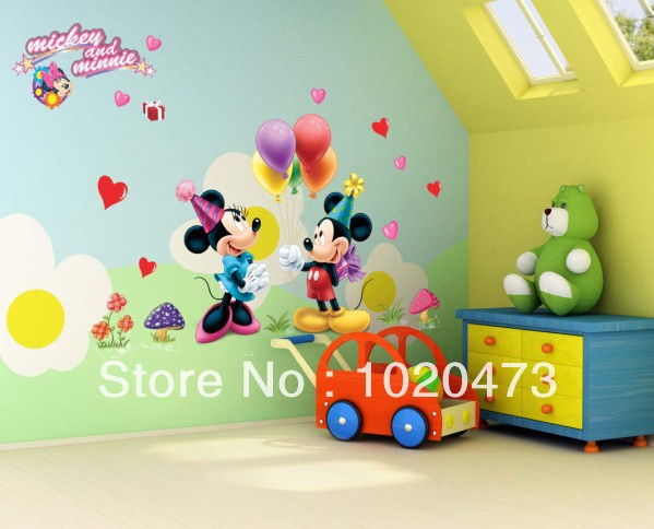 Mickey Mouse Wall Art free shipping mickey mouse wall decal/sticker wall art kids mickey