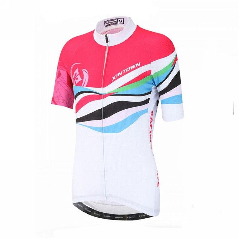 3ed37d01f4 Xintown Mulheres Manga Curta Pro Camisa de Ciclismo Roupa Ropa ciclismo  Corrida De Bicicleta de Ciclismo Roupas De Ciclismo Bicicleta Jersey Tops