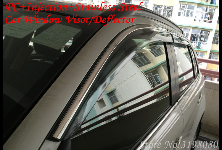 Car Deflector Window Visor For Toyota CAMRY XV40 2006 2007 2008 2009 2010 2011 Door Visor,Weather Rain Sun guard,Car Accessories 2015 2017 car wind deflector awnings shelters for hilux vigo revo black window deflector guard rain shield fit for hilux revo