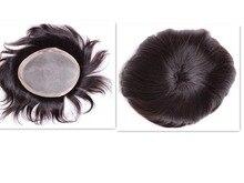 mens toupee 7″x9″ Mono Base Human Hair Toupee Free Style Hair System Piece Men's Toupee