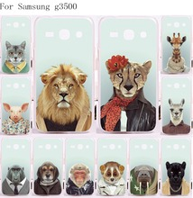 Phone Cases Cover For Samsung Galaxy G3500 Cases Unique Good Selling Cool Animal Tiger Lion Painted Plastic and Silicon Housing