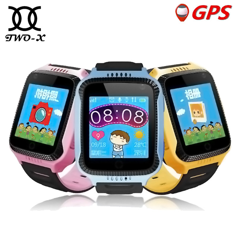 лучшая цена TWOX Baby Smart Watch Q528 Kids GPS Smart Watch phone tracker child watch with Camera Lighting SOS Call Smart Clock Q100 Q90 Q50