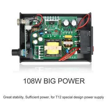 Calentamiento rápido T12 de soldadura Estación de soldadura electrónica de hierro 2020 nueva versión STC T12 OLED Digital de T12-952 QUICKO 6