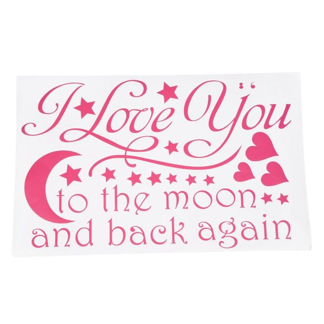 Newly designed wall sticker words saying i love you to the moon and back